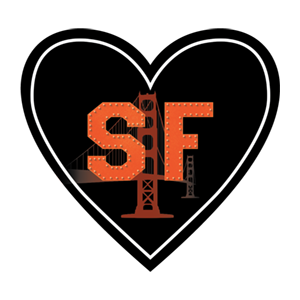 Sticker | San Francisco SF | In My Heart - The Heart Sticker Company