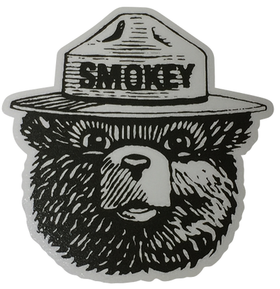 Smokey The Bear Vinyl Transfer Sticker - The Heart Sticker Company