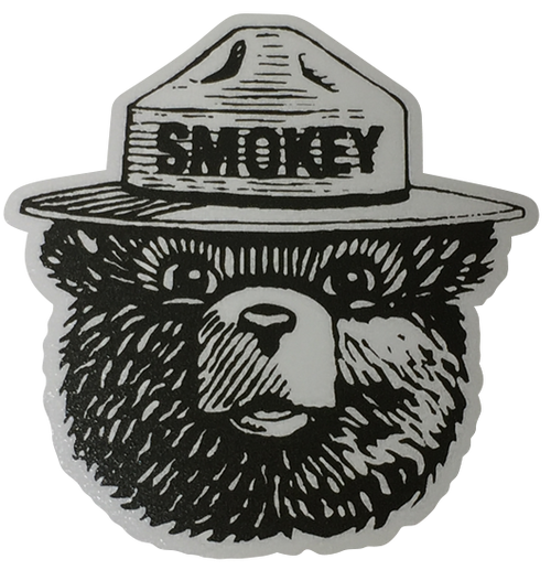 Smokey The Bear Vinyl Transfer Sticker