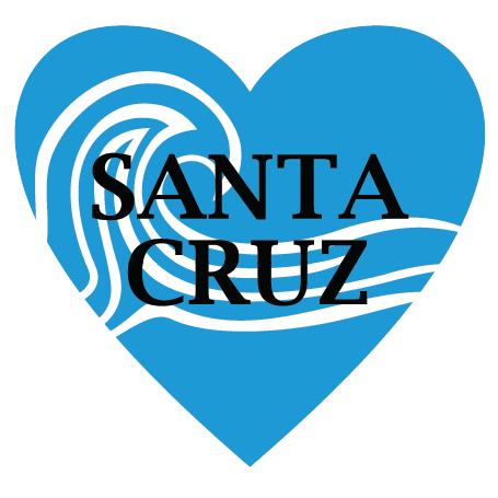 In My Heart - California, Santa Cruz Sticker - The Heart Sticker Company