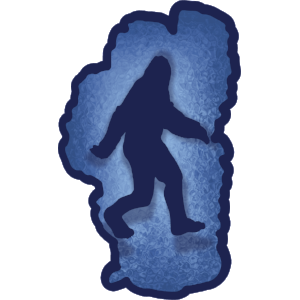 Bigfoot in Lake Tahoe Sticker - The Heart Sticker Company