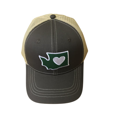 Trucker Hat | Heart in Washington | Snap Back