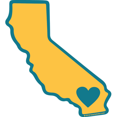 Sticker | Heart in California | SoCal - The Heart Sticker Company