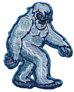 Yeti Embroidered Sticker - Embroidered sticker apply to anything.