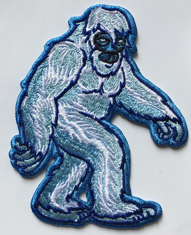Yeti Embroidered Sticker - Embroidered sticker apply to anything. - The Heart Sticker Company