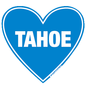 In my heart - California, Tahoe Sticker - The Heart Sticker Company
