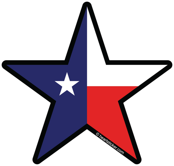 Sticker | Texas Lone Star - The Heart Sticker Company