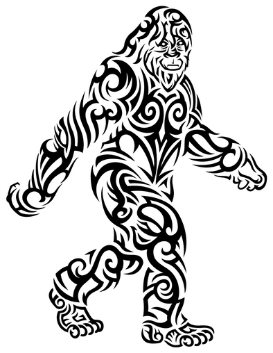 Sticker |  Bigfoot Stroll | Tribal - The Heart Sticker Company