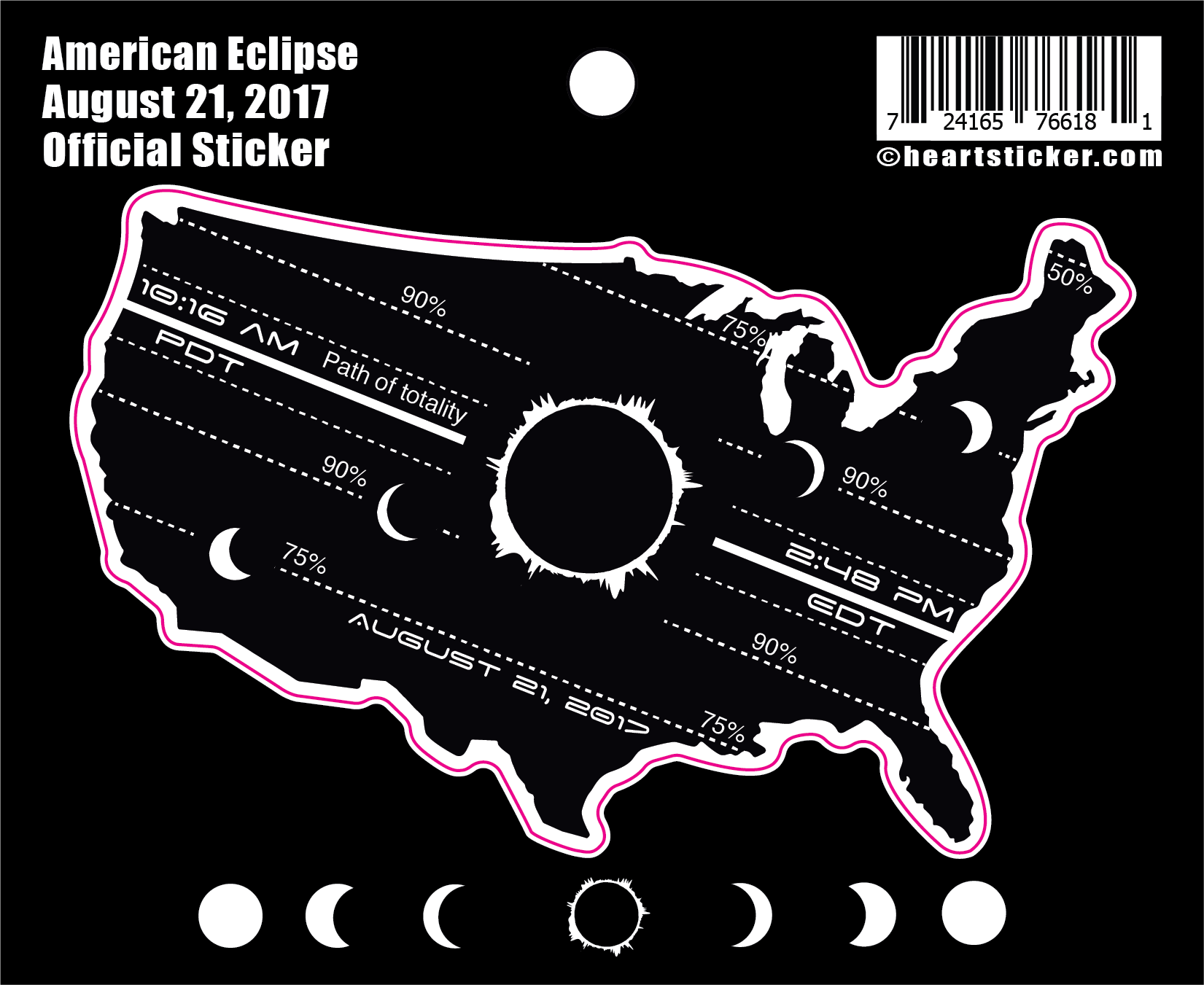 American Eclipse Sticker