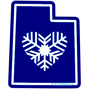 Sticker | Heart in Utah | Snowflake - The Heart Sticker Company