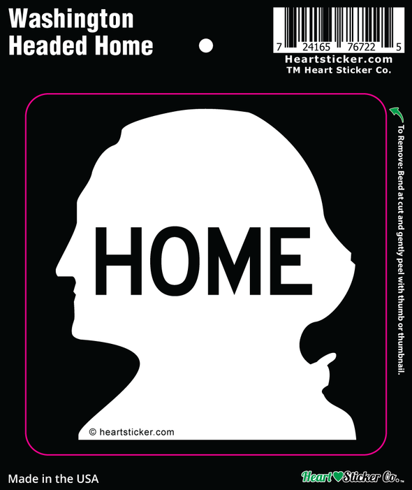 Sticker | Washington Hwy Home - The Heart Sticker Company