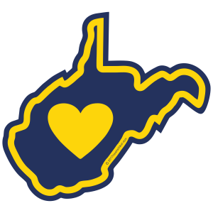 Sticker | Heart In West Virginia - The Heart Sticker Company