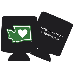 Drink Cooler | Heart in Washington | Neoprene - The Heart Sticker Company