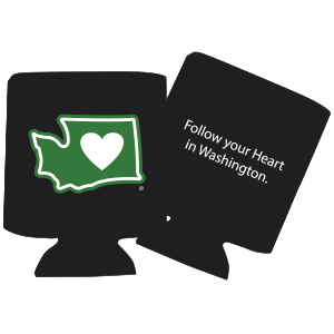 Heart in Washington Infant Onesie ~ Charcoal
