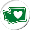 "Washington - Heart in Washington Love 2.25"" Magnet - The Heart Sticker Company"