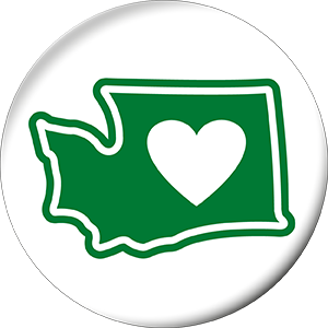 Heart on Orcas Island Sticker - Vinyl Weather Proof UV Resistant Sticker