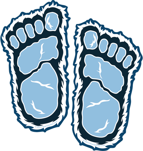 Yeti Foot Print Sticker - The Heart Sticker Company