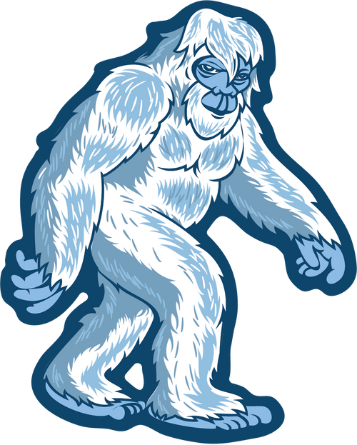 Yeti Stroll Sticker - The Heart Sticker Company
