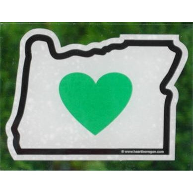 Oregon - Heart in Oregon Static Cling (Removal and Reuse)
