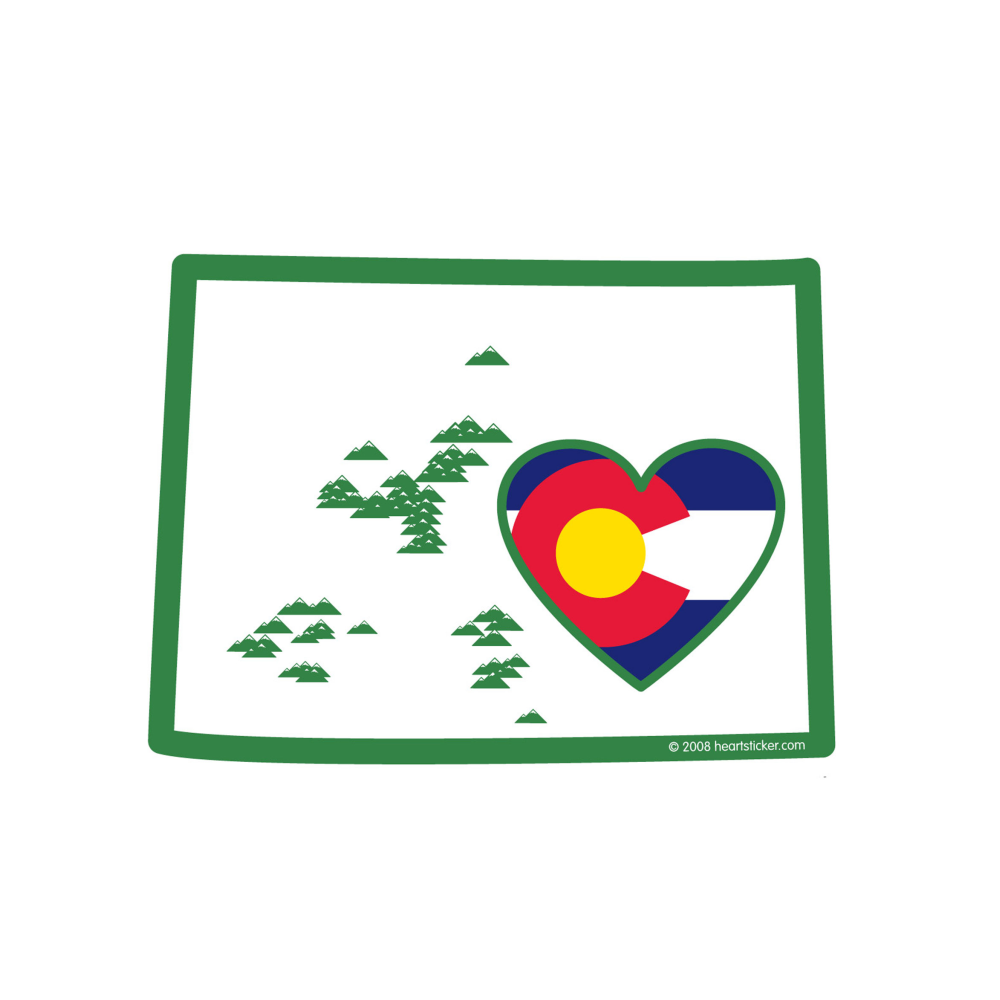 2 I Love North Dakota Sticker Decal Die-Cut Vinyl