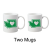 Drinkware | Heart in Washington | Coffee Mug - The Heart Sticker Company