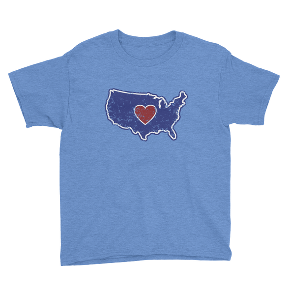 T-Shirt | Heart in America | Youth - The Heart Sticker Company