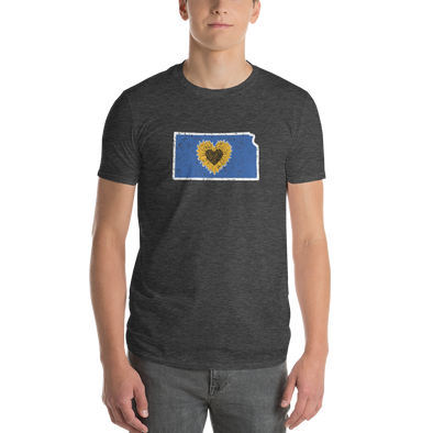 T-Shirt | Heart in Kansas | Short Sleeve - The Heart Sticker Company