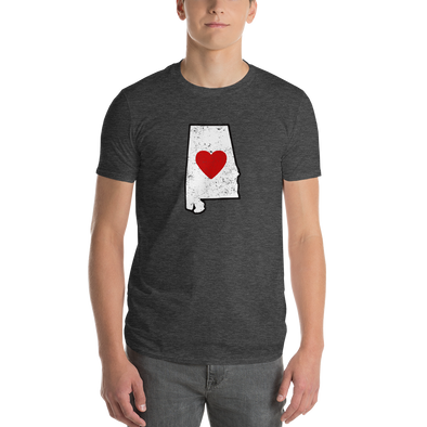 T-Shirt | Heart in Alabama | Short Sleeve - The Heart Sticker Company