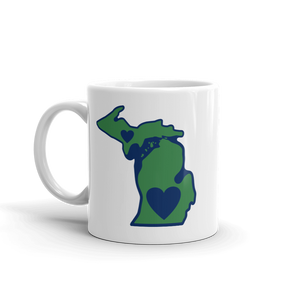 Drinkware | Heart in Michigan | Coffee Mug - The Heart Sticker Company