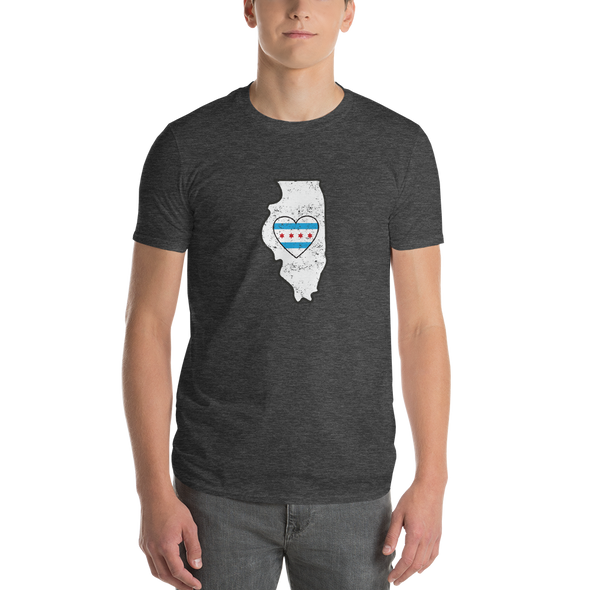 T-Shirt | Heart in Illinois | Short Sleeve - The Heart Sticker Company