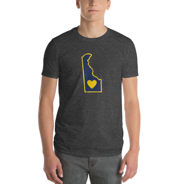 T-Shirt | Heart in Delaware | Short Sleeve - The Heart Sticker Company