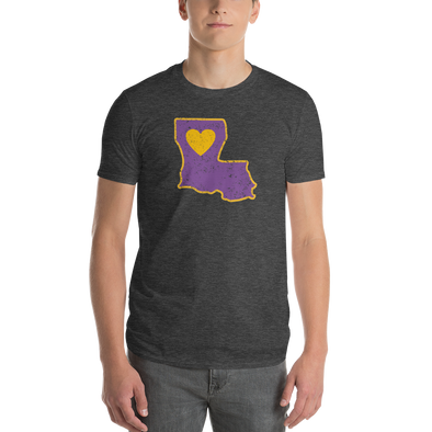 T-Shirt | Heart in Louisiana | Short Sleeve - The Heart Sticker Company