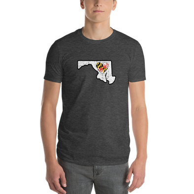 T-Shirt | Heart in Maryland | Short Sleeve