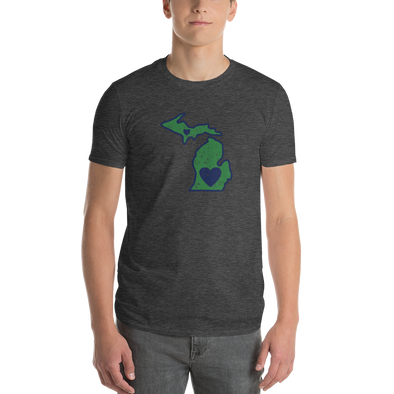 T-Shirt | Heart in Michigan | Short Sleeve - The Heart Sticker Company
