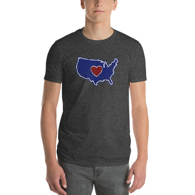 T-Shirt | Heart in America | Mens