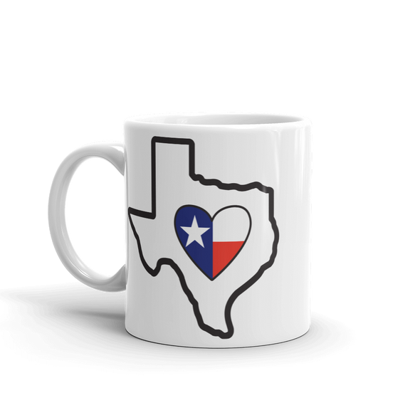 Drinkware | Heart in Texas | Coffee Mug - The Heart Sticker Company