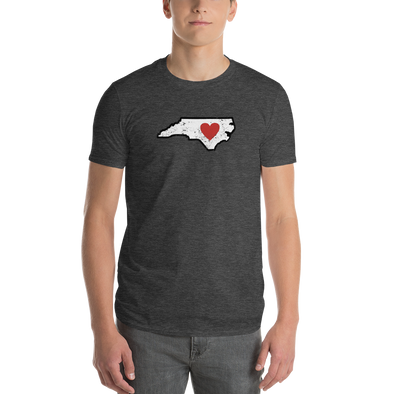 T-Shirt | Heart in North Carolina | Short Sleeve - The Heart Sticker Company