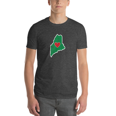 T-Shirt | Heart in Maine | Short Sleeve - The Heart Sticker Company