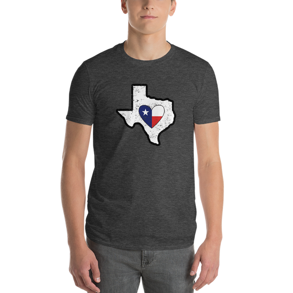 T-Shirt | Heart in Texas | Short Sleeve - The Heart Sticker Company
