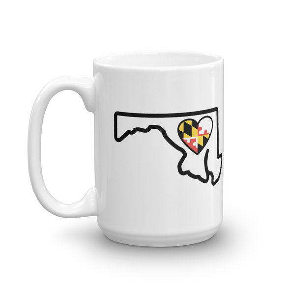 Drinkware | Heart in Maryland | Coffee Mug - The Heart Sticker Company