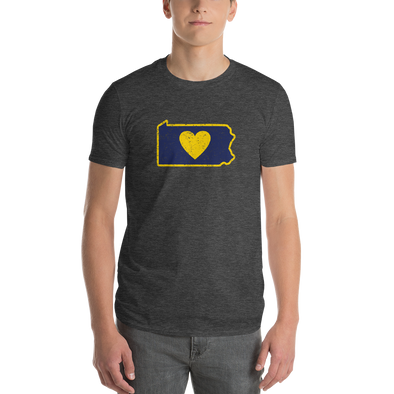 T-Shirt | Heart in Pennsylvania  | Short Sleeve - The Heart Sticker Company