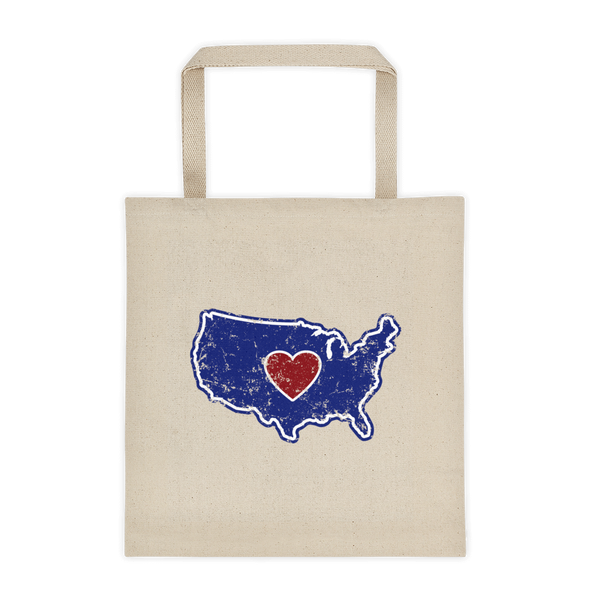 Tote bag | Heart in America - The Heart Sticker Company