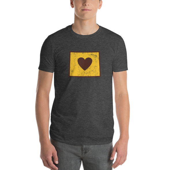 T-Shirt | Heart in Wyoming | Short Sleeve - The Heart Sticker Company