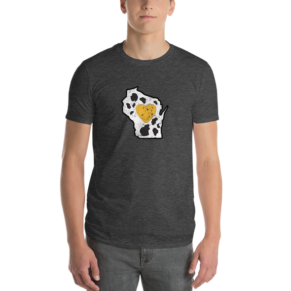 T-Shirt | Heart in Wisconsin | Short Sleeve - The Heart Sticker Company