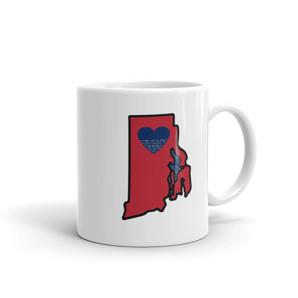 Drinkware | Heart in Rhode Island | Coffee Mug - The Heart Sticker Company