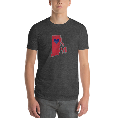 T-Shirt | Heart in Rhode Island | Short Sleeve - The Heart Sticker Company