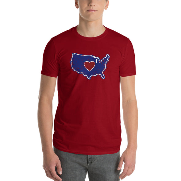 T-Shirt | Heart in America | Mens - The Heart Sticker Company