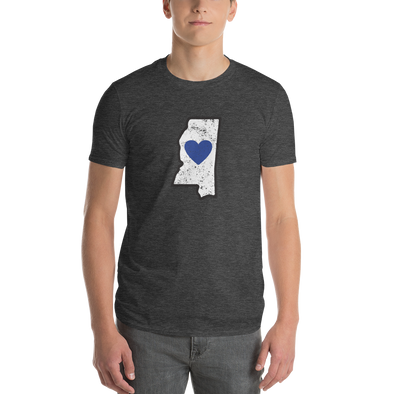 T-Shirt | Heart in Mississippi | Short Sleeve - The Heart Sticker Company