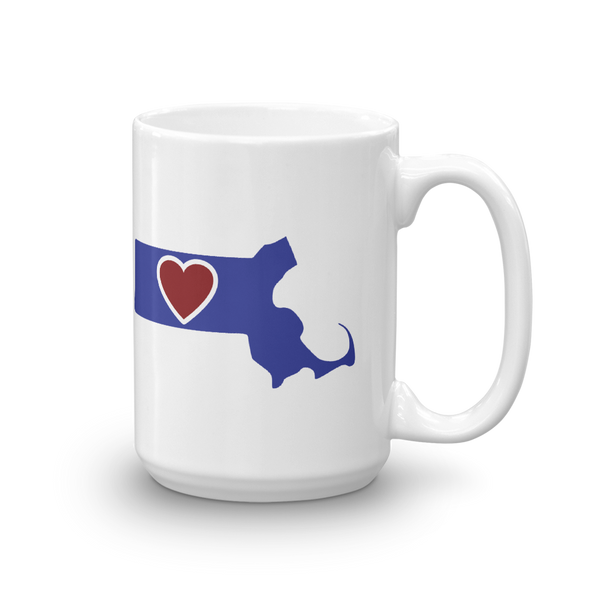 Drinkware | Heart in Massachusetts | Coffee Mug - The Heart Sticker Company
