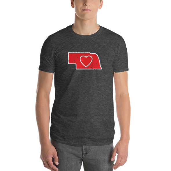 T-Shirt | Heart in Nebraska | Short Sleeve - The Heart Sticker Company